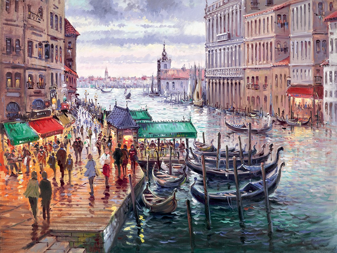 Vacation in Venice by Henderson Cisz - Limited Edition on Paper sized 12x9 inches. Available from Whitewall Galleries